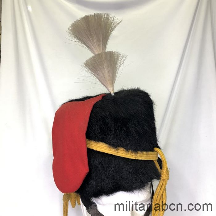 UK. Royal Horse Artillery busby or leather hat. George VI period.