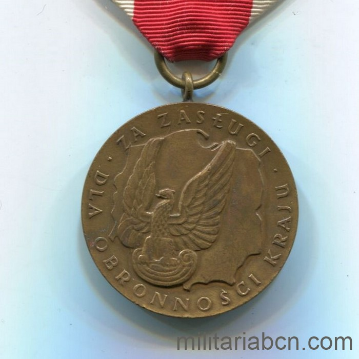 People's Republic of Poland. Medal of Merit in National Defense. Bronze version. Polish medal