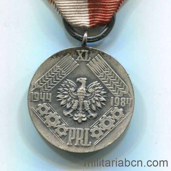People's Republic of Poland. 40th Anniversary Medal of the People's Republic 1944-84.