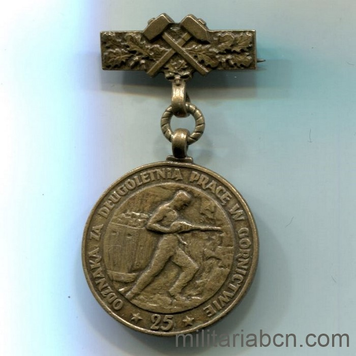 People's Republic of Poland. Medal for Long Service in Mining. Polish medal