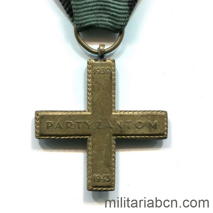 Poland. Partisan Cross. Instituted in 1945 to distinguish the fighting Partisans in World War II