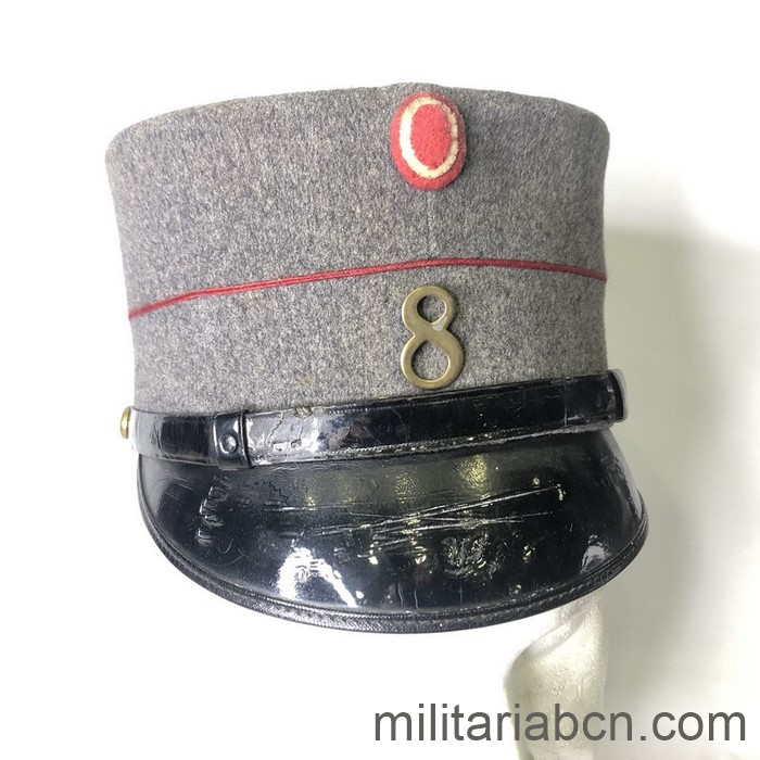 Denmark. Infantry Kepi. 8 Battalion. Model 1915. World War 1 period. From the collection of writer Sven Hassel.
