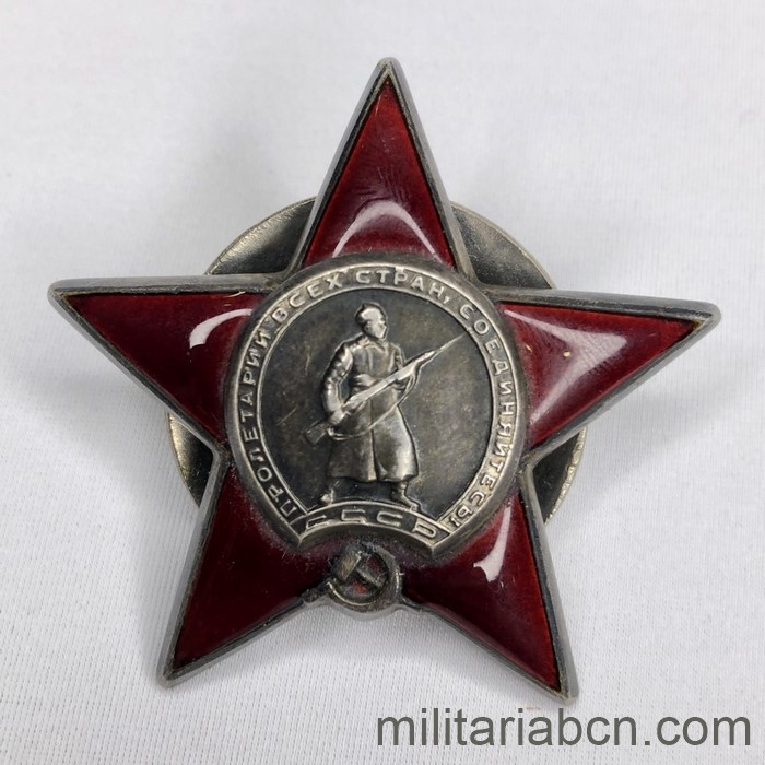 USSR Soviet Union. Order of the Red Star # 890272. Type 3, Option 2, Variant 2. Year 1944.